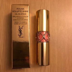 NIB YSL rouge volupte shine (bright pink)